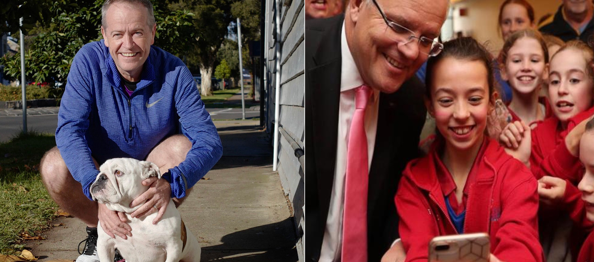 Bill Shorten and Scott Morrison on the campaign trail.