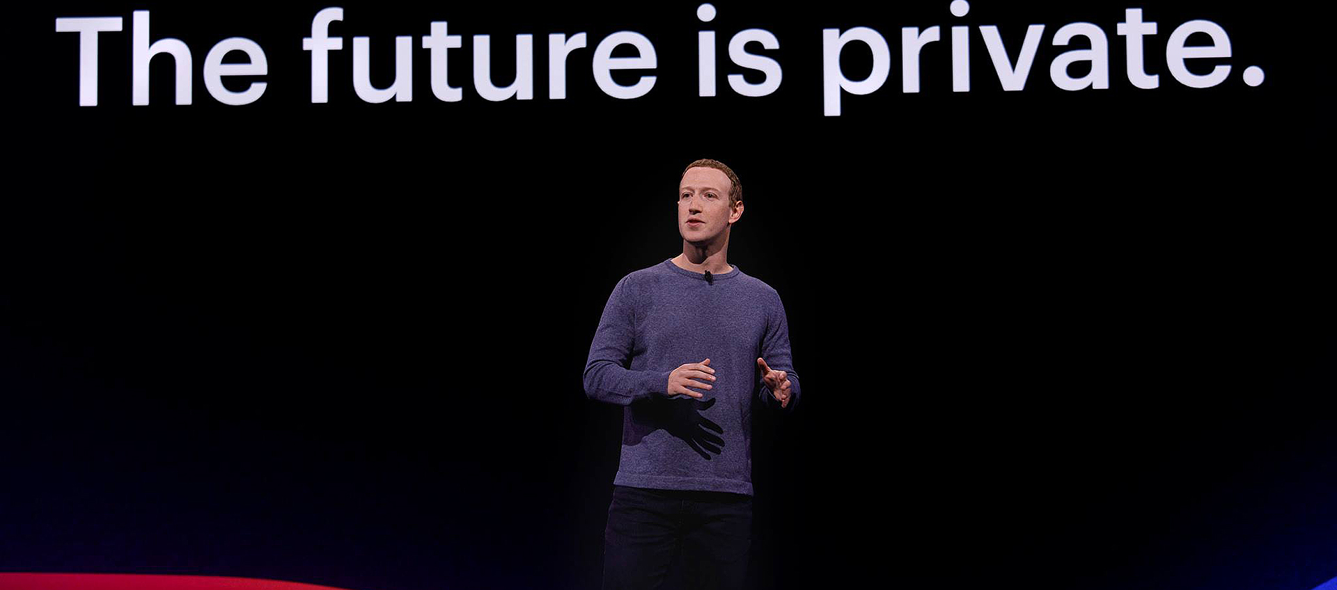 Mark Zuckerberg says Facebook will focus on privacy.