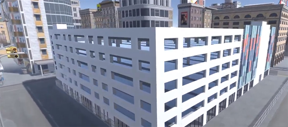 PARKD - model of a prefab car park.