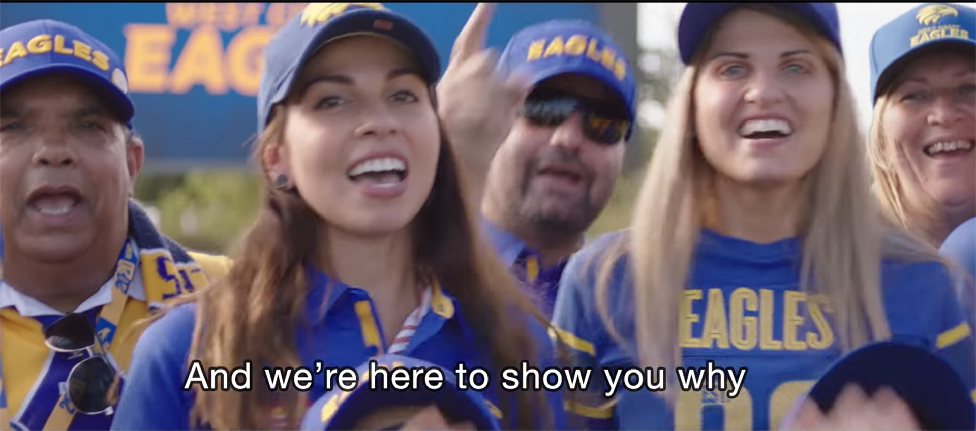 Photo to go with story on West Coast Eagles' new song